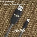 Voltage/Current show lightning cable