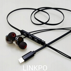 C100 LIGHTNING earphone