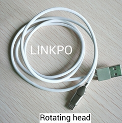 micro usb rotating head cable