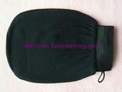 Viscose magic peeling glove tan removal mitt exfoliating bath glove
