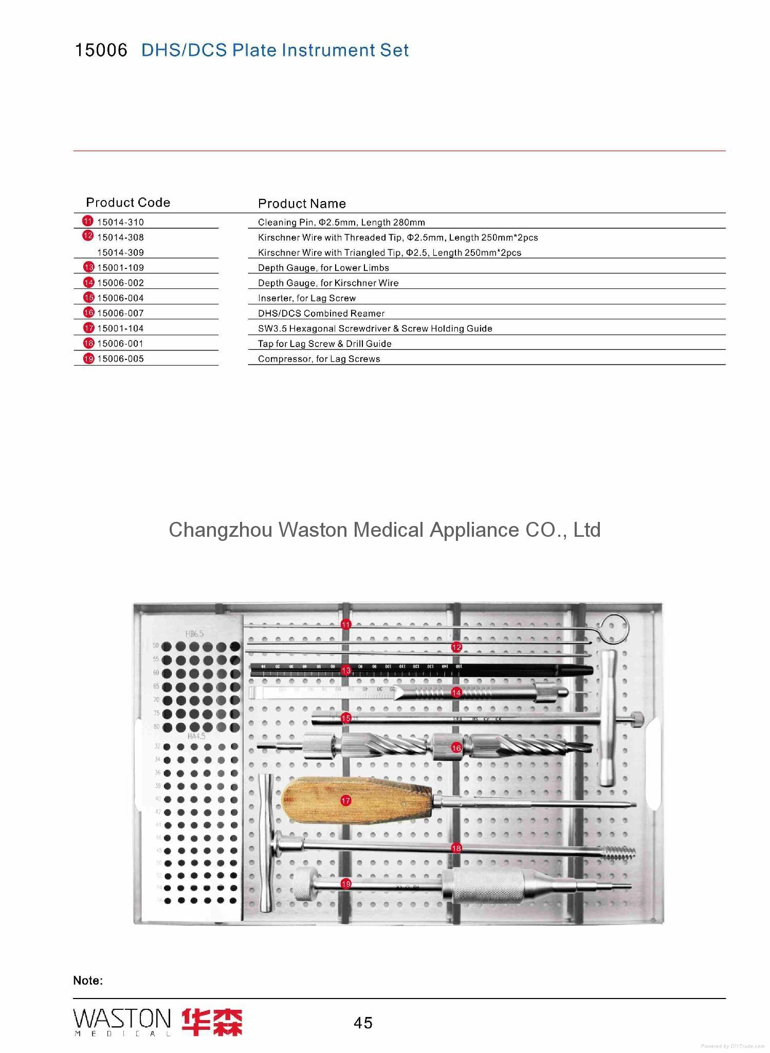 DCS/DHS鵝頭釘成套器械--骨科植入物、純鈦、創傷、醫用 2