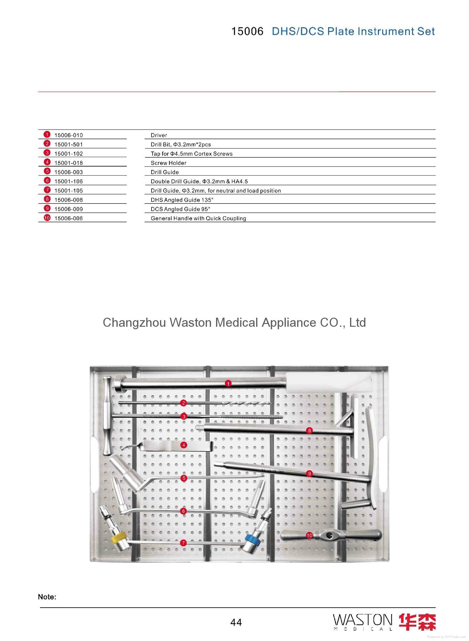 DCS/DHS鵝頭釘成套器械--骨科植入物、純鈦、創傷、醫用 1