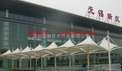 台州新型公交站台遮阳膜结构