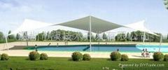 綿陽游泳池景觀遮陽棚膜結構