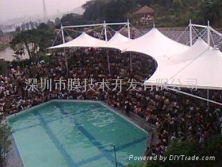 福州動物園海獅表演看台膜結構 1
