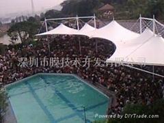 福州动物园海狮表演看台膜结构