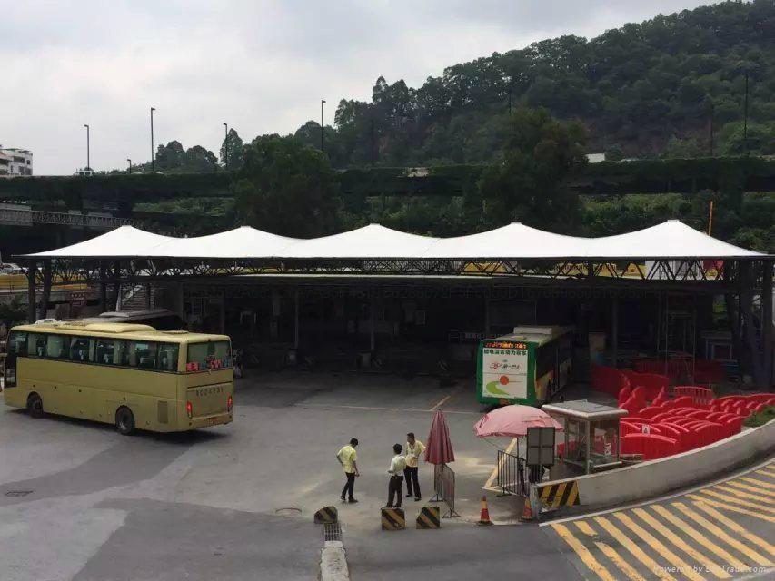广州汽车东站大巴车停靠站遮阳棚 2