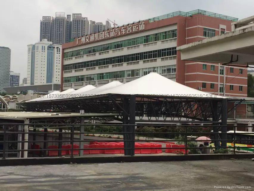 广州汽车东站大巴车停靠站遮阳棚 1