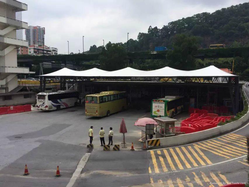 广州汽车东站大巴车停靠站遮阳棚 4