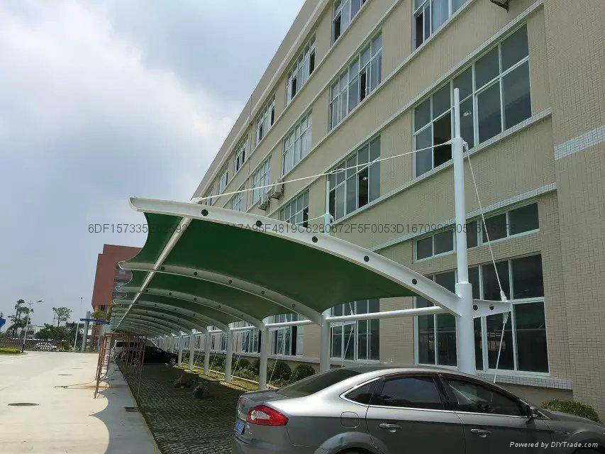 中山PVDF聚酯纖維景觀遮陽棚 5