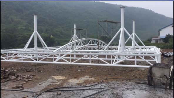 曲尺河加油站景觀張拉膜結構工程 2