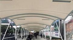 郴州高铁站长廊景观膜结构