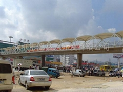 深圳人行天橋遮陽棚張拉膜結構