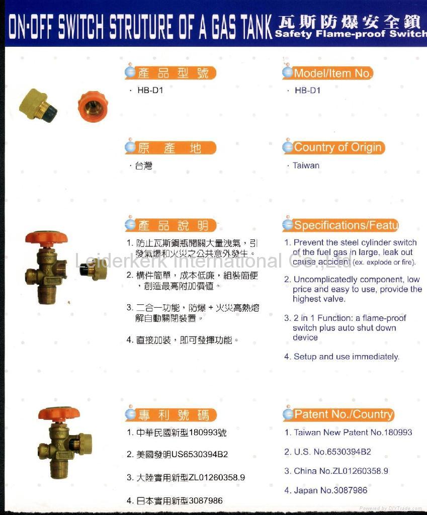 Anti-Blast Safety Valve for LPG gas cylinder (Taiwan ...