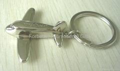 Plane keychain or tag