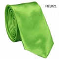 Solid Colors Neckties, Imitation Silk Neckties