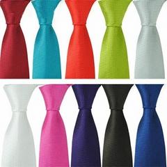Solid Colors Neckties, Polyester Neckties,Jacquard Neckties