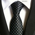 Dots Patterns Neckties, Jacquard Polyester Neckties