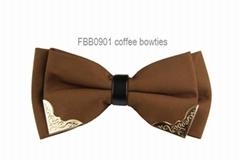 Korean Silk Bow Ties With Metal Angle