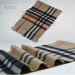 Check Patterns Cashmere Scarf