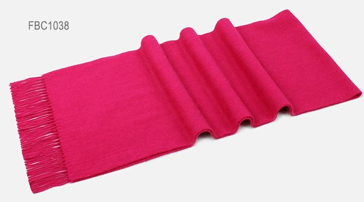 Solid Color Cashmere Scarf 6