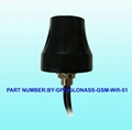 Gps Gnss Gsm Wifi Antenna With 3 Cables FAKRA