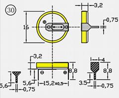 CR1632/1HF 紐扣電池