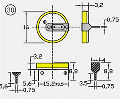 CR1632/1HF 纽扣电池