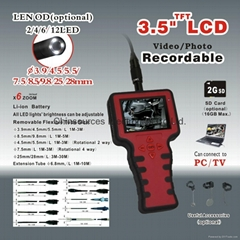 88D--5530L3    5.5mm Camera Head Rechargable Video Memory Inspection Camera