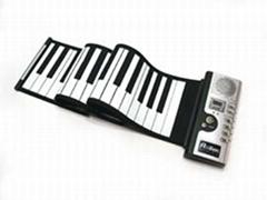61鍵硅膠手卷電子琴