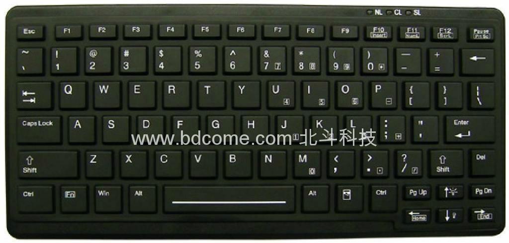 筆記型便攜式醫療鍵盤,可帶背光