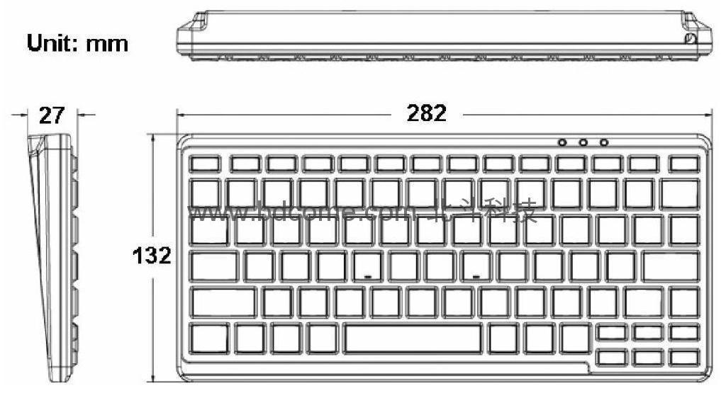 帶背光的醫療鍵盤防水防塵