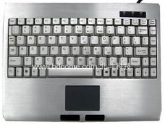 筆記型工業鍵盤帶觸摸板K88C2鋁合金高強度外殼