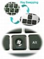 超薄按键设计巧克力键盘KB801带游戏切换键专利技术设计 5