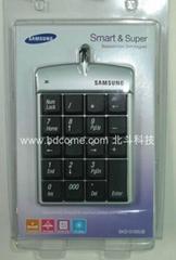 筆記本USB數字小鍵盤|帶LCD計算器功能|HUB|無線系列