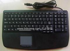 筆記本式醫療鍵盤帶觸摸板KM103T 可水洗 可選背光