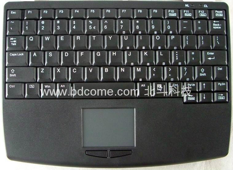 完全笔记型设计工业键盘带触摸板K88G可选2.4G无线
