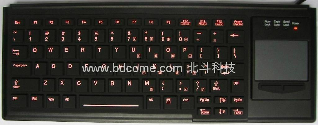 医疗键盘带触摸板带背光