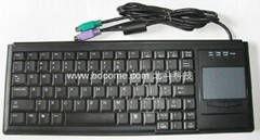 筆記型工業鍵盤帶觸摸板K88B,德國CHERRY確勵標準