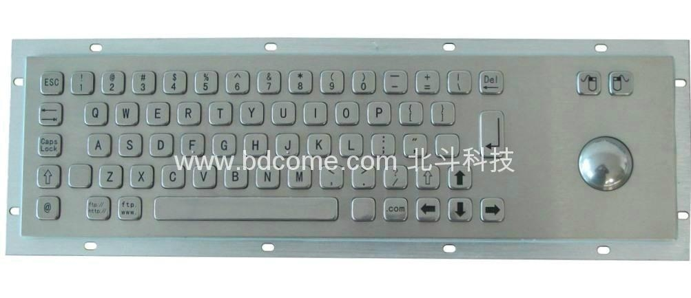 工业金属键盘带轨迹球