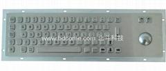 不锈钢金属工业键盘带轨迹球KB6B