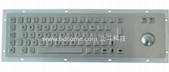Industrial Stainless Steel Metal Kiosk Keyboard with trackball KB6B