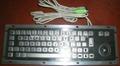 不锈钢金属工业键盘带轨迹球KB
