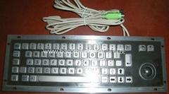 不锈钢金属工业键盘带轨迹球KB6D