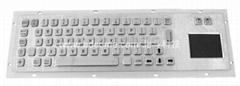 不鏽鋼金屬工業鍵盤帶觸摸板KB6G可選桌面式背板