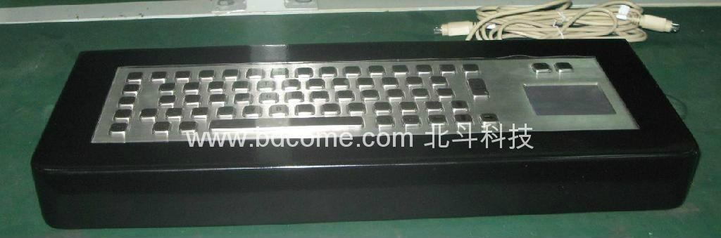 Desktop type industrial metal keyboard with touchpad