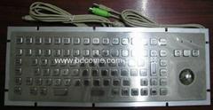 不锈钢金属工业键盘带轨迹球KB6H1