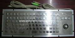 Industrial Stainless Steel Metal Kiosk Keyboard with trackball KB6H1