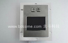 Industrial Stainless Steel Metal Trackball or TouchPad Mouse