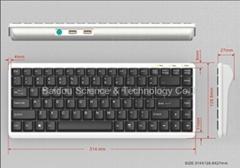 工業鍵盤KB8800可選配PS/2鼠標接口或USB HUB